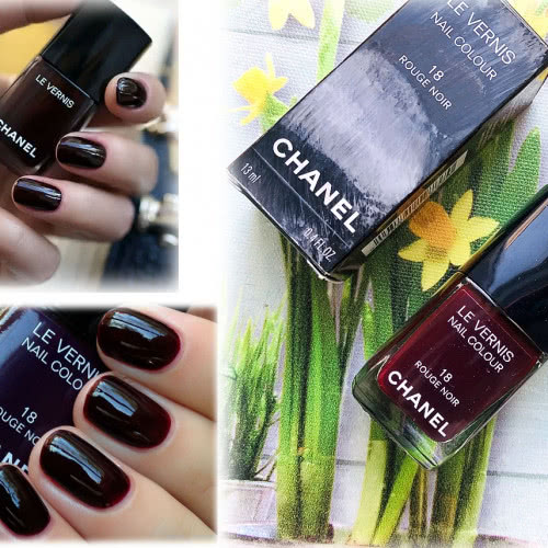 Лак CHANEL 18 Rouge Noir в коробке