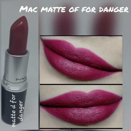 Mac помада для губ matte of for danger