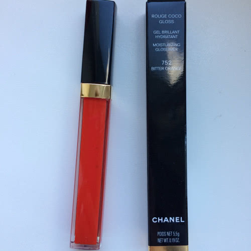 Chanel Rouge Coco Gloss блеск для губ #752 Bitter Orange.